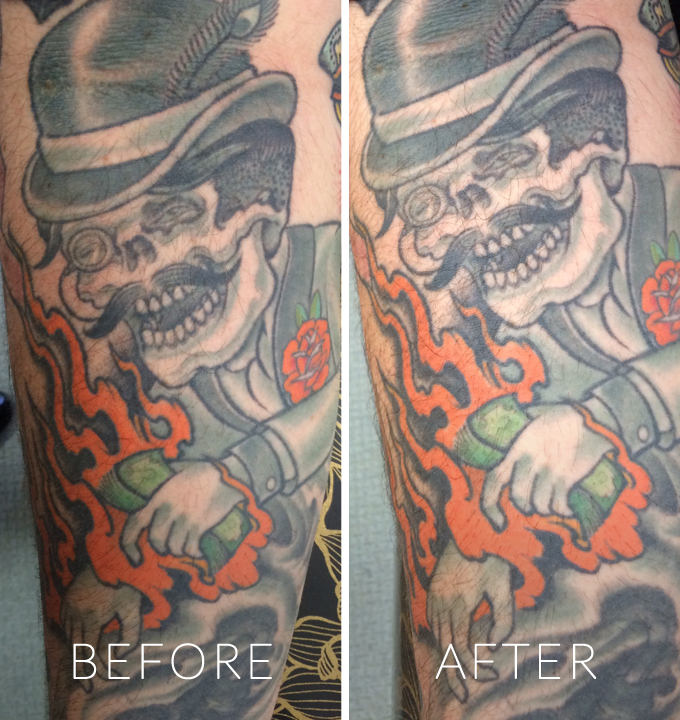 Before & After Tatul Use